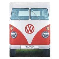 VW Split Campervan Reversible Double Sleeping Bag - Red/Blue